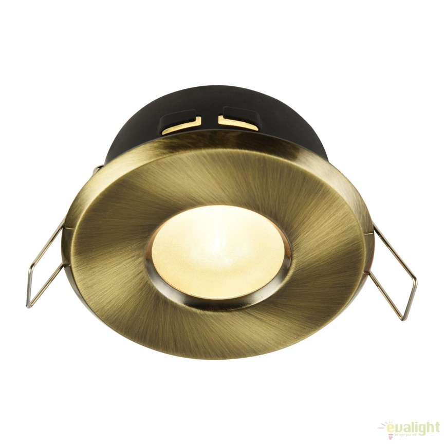 Spot incastrabil cu protectie IP44 Metal 8,4cm, alama MYDL010-3-01-BZ , Aplice pentru baie, oglinda, tablou, Corpuri de iluminat, lustre, aplice, veioze, lampadare, plafoniere. Mobilier si decoratiuni, oglinzi, scaune, fotolii. Oferte speciale iluminat interior si exterior. Livram in toata tara.  a