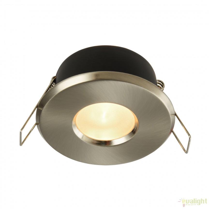 Spot incastrabil cu protectie IP44 Metal 8,4cm, nickel satinat MYDL010-3-01-N, Aplice pentru baie, oglinda, tablou, Corpuri de iluminat, lustre, aplice, veioze, lampadare, plafoniere. Mobilier si decoratiuni, oglinzi, scaune, fotolii. Oferte speciale iluminat interior si exterior. Livram in toata tara.  a