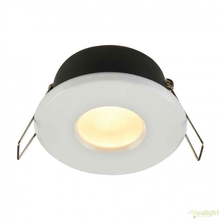 Spot incastrabil cu protectie IP44 Metal 8,4cm, alb MYDL010-3-01-W, Aplice pentru baie, oglinda, tablou, Corpuri de iluminat, lustre, aplice, veioze, lampadare, plafoniere. Mobilier si decoratiuni, oglinzi, scaune, fotolii. Oferte speciale iluminat interior si exterior. Livram in toata tara.  a