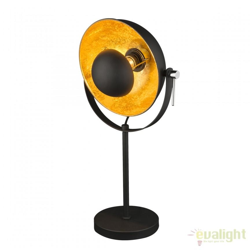 Veioza stil Retro / Lampa de masa moderna Xirena neagra 58286T GL, PROMOTII,  a