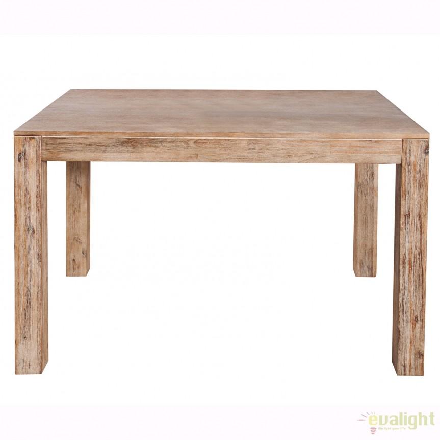 Masa extensibila din lemn de stejar Pure 120-200cm A-36423 VC, Mese dining, Corpuri de iluminat, lustre, aplice, veioze, lampadare, plafoniere. Mobilier si decoratiuni, oglinzi, scaune, fotolii. Oferte speciale iluminat interior si exterior. Livram in toata tara.  a