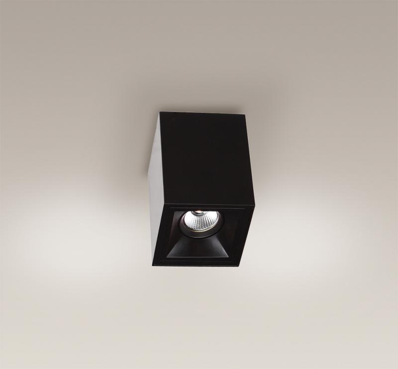 Plafonier, Spot aplicat negru, dim.10x10cm, Led Basic Square C0054 MX, Spoturi LED incastrate, aplicate, Corpuri de iluminat, lustre, aplice a