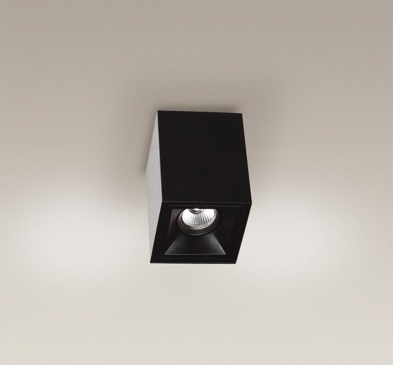 Plafonier, Spot aplicat negru, dim.10x10cm, Led Basic Square C0054 MX, PROMOTII, Corpuri de iluminat, lustre, aplice, veioze, lampadare, plafoniere. Mobilier si decoratiuni, oglinzi, scaune, fotolii. Oferte speciale iluminat interior si exterior. Livram in toata tara.  a
