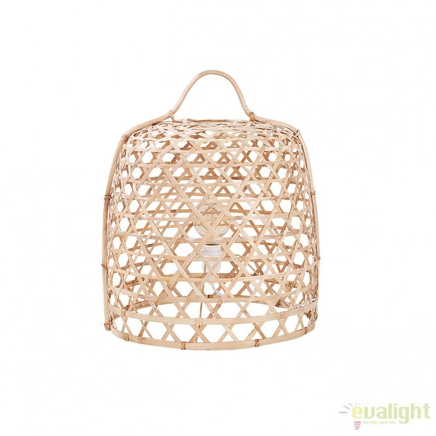 Lampa de podea din bambus, Bamboo 45cm A-38165 VC, Magazin, Corpuri de iluminat, lustre, aplice, veioze, lampadare, plafoniere. Mobilier si decoratiuni, oglinzi, scaune, fotolii. Oferte speciale iluminat interior si exterior. Livram in toata tara.  a