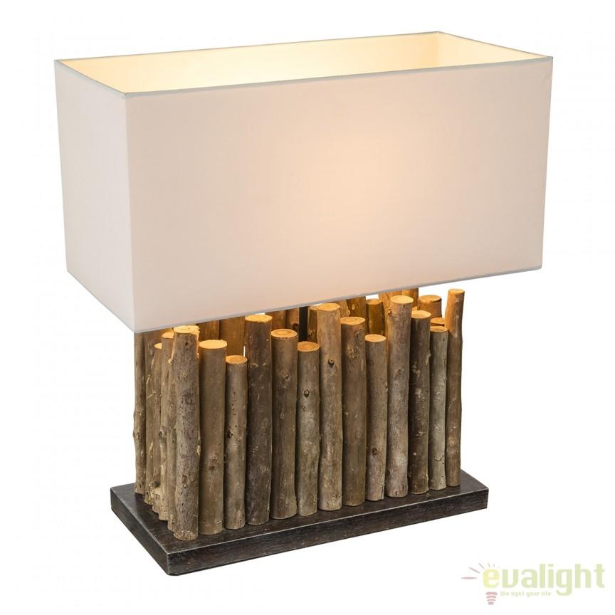 Veioza / Lampa masa stil rustic Jamie 25601 GL, Veioze, Corpuri de iluminat, lustre, aplice, veioze, lampadare, plafoniere. Mobilier si decoratiuni, oglinzi, scaune, fotolii. Oferte speciale iluminat interior si exterior. Livram in toata tara.  a