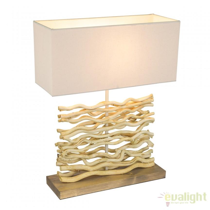 Veioza / Lampa masa stil rustic Jamie 21647 GL, Veioze, Corpuri de iluminat, lustre, aplice, veioze, lampadare, plafoniere. Mobilier si decoratiuni, oglinzi, scaune, fotolii. Oferte speciale iluminat interior si exterior. Livram in toata tara.  a