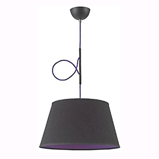 Lustra moderna negru/ purpuriu Lukka 369/1 LP, Outlet,  a