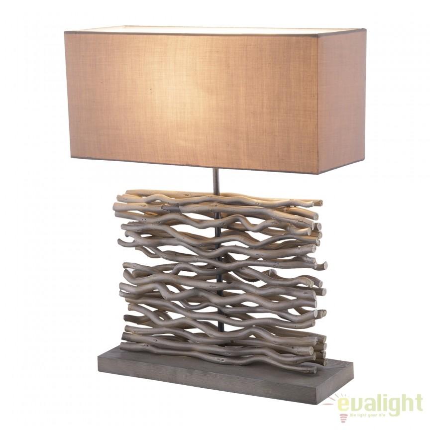 Veioza / Lampa stil rustic Jamie 21648 GL, Veioze, Corpuri de iluminat, lustre, aplice, veioze, lampadare, plafoniere. Mobilier si decoratiuni, oglinzi, scaune, fotolii. Oferte speciale iluminat interior si exterior. Livram in toata tara.  a