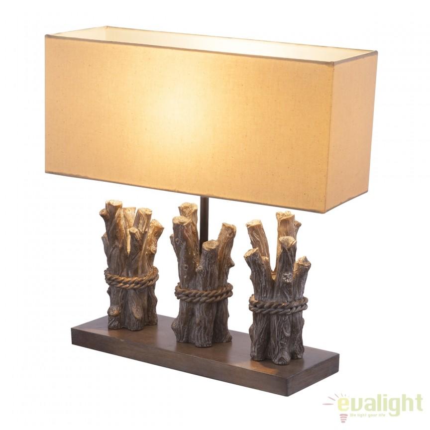 Veioza / Lampa masa stil rustic Jamie 21649 GL, Veioze, Corpuri de iluminat, lustre, aplice, veioze, lampadare, plafoniere. Mobilier si decoratiuni, oglinzi, scaune, fotolii. Oferte speciale iluminat interior si exterior. Livram in toata tara.  a