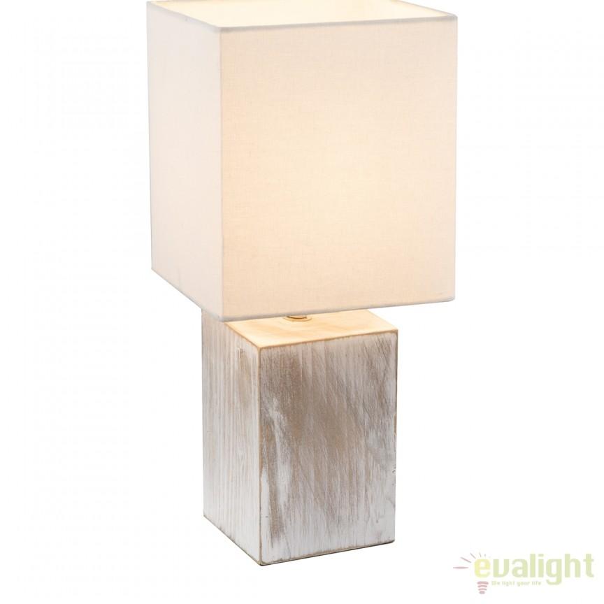 Veioza moderna / Lampa stil minimalist ILONA III 21699 GL, Veioze de Birou moderne, Corpuri de iluminat, lustre, aplice, veioze, lampadare, plafoniere. Mobilier si decoratiuni, oglinzi, scaune, fotolii. Oferte speciale iluminat interior si exterior. Livram in toata tara.  a