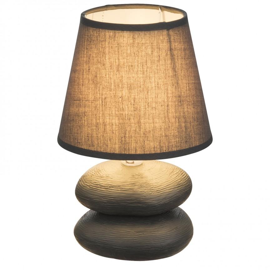Veioza cu baza din ceramica KILAUEA, gri 21601 GL, Veioze, Lampi de masa, Corpuri de iluminat, lustre, aplice, veioze, lampadare, plafoniere. Mobilier si decoratiuni, oglinzi, scaune, fotolii. Oferte speciale iluminat interior si exterior. Livram in toata tara.  a