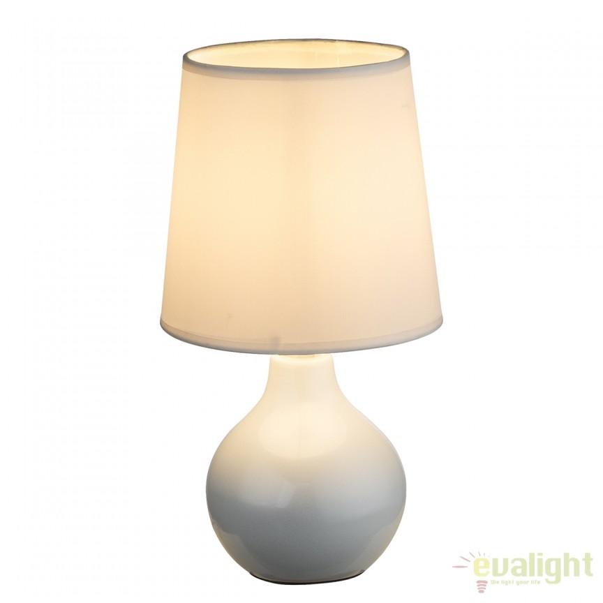 Veioza cu baza din ceramica Vesuv II  21609 GL, Veioze, Lampi de masa, Corpuri de iluminat, lustre, aplice, veioze, lampadare, plafoniere. Mobilier si decoratiuni, oglinzi, scaune, fotolii. Oferte speciale iluminat interior si exterior. Livram in toata tara.  a