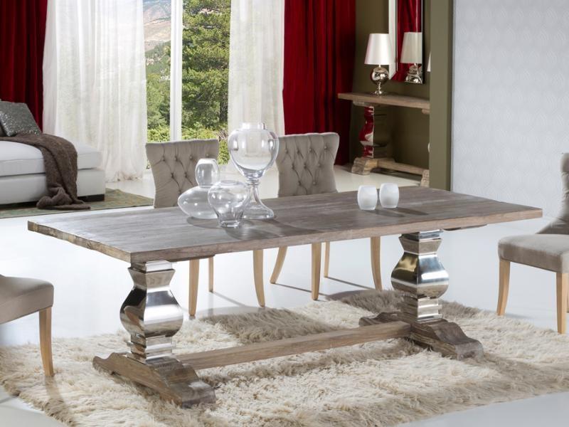 Masa din lemn masiv, dinning table, Antica 591684, Mese dining, Corpuri de iluminat, lustre, aplice a