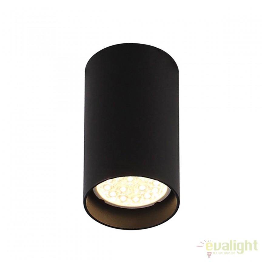 Spot aplicat design modern PET ROUND negru C0142 MX, Spoturi aplicate - tavan / perete, Corpuri de iluminat, lustre, aplice, veioze, lampadare, plafoniere. Mobilier si decoratiuni, oglinzi, scaune, fotolii. Oferte speciale iluminat interior si exterior. Livram in toata tara.  a