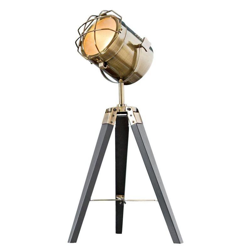 Lampa de masa cu trepied stil retro-industrial style Tripod alama A-36843 VC, Veioze, Lampi de masa, Corpuri de iluminat, lustre, aplice, veioze, lampadare, plafoniere. Mobilier si decoratiuni, oglinzi, scaune, fotolii. Oferte speciale iluminat interior si exterior. Livram in toata tara.  a