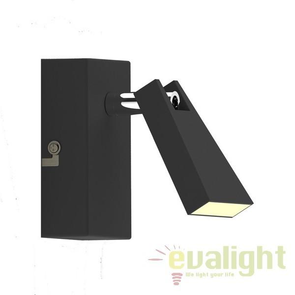 Aplica LED cu 1 spot SPAZIO, negru CK99603A-1B ZL, Magazin, Corpuri de iluminat, lustre, aplice, veioze, lampadare, plafoniere. Mobilier si decoratiuni, oglinzi, scaune, fotolii. Oferte speciale iluminat interior si exterior. Livram in toata tara.  a