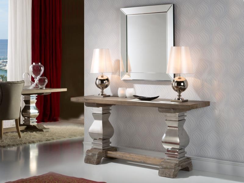 Consola din lemn masiv, Antica 591762, Console - Birouri, Corpuri de iluminat, lustre, aplice a