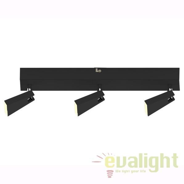Aplica LED cu 3 spoturi SPAZIO, negru CK99603A-3B ZL, Spoturi - iluminat - cu 3 spoturi, Corpuri de iluminat, lustre, aplice, veioze, lampadare, plafoniere. Mobilier si decoratiuni, oglinzi, scaune, fotolii. Oferte speciale iluminat interior si exterior. Livram in toata tara.  a