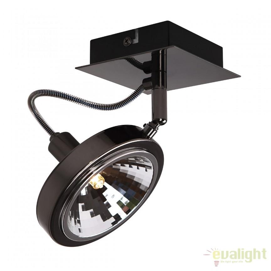 Spot aplicat directionabil design modern Reflex negru C0140 MX, Outlet,  a