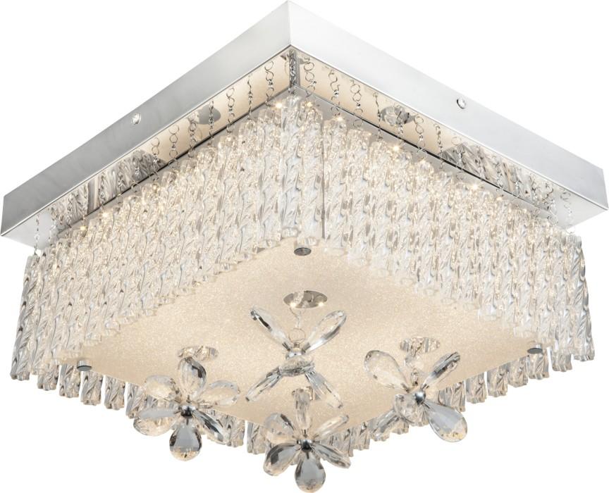 Plafoniera cu telecomanda si iluminat LED RGB, 32x32cm MALU 68624-18RGB GL , Lampi LED si Telecomanda, Corpuri de iluminat, lustre, aplice, veioze, lampadare, plafoniere. Mobilier si decoratiuni, oglinzi, scaune, fotolii. Oferte speciale iluminat interior si exterior. Livram in toata tara.  a