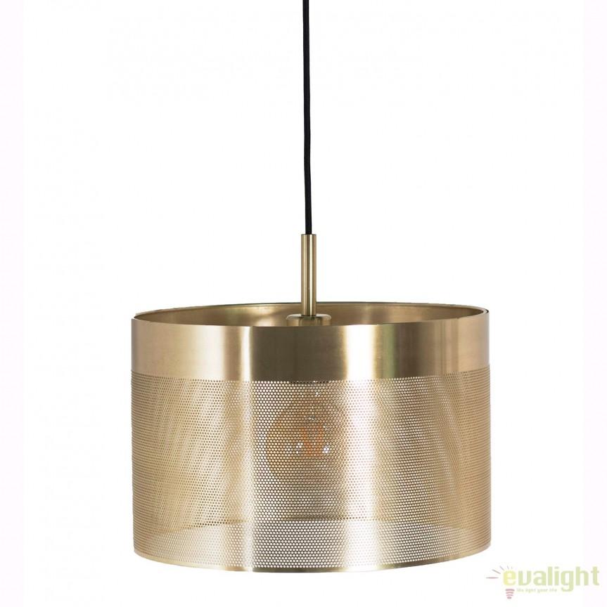 Lustra metalica diametru 35cm GRID alama PL-16014-BRGD ZL, Magazin, Corpuri de iluminat, lustre, aplice, veioze, lampadare, plafoniere. Mobilier si decoratiuni, oglinzi, scaune, fotolii. Oferte speciale iluminat interior si exterior. Livram in toata tara.  a