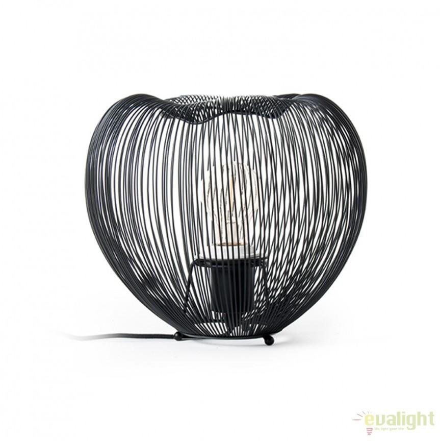 Veioza moderna din metal CAGE TL-15012-BK ZL, Veioze, Lampi de masa, Corpuri de iluminat, lustre, aplice, veioze, lampadare, plafoniere. Mobilier si decoratiuni, oglinzi, scaune, fotolii. Oferte speciale iluminat interior si exterior. Livram in toata tara.  a