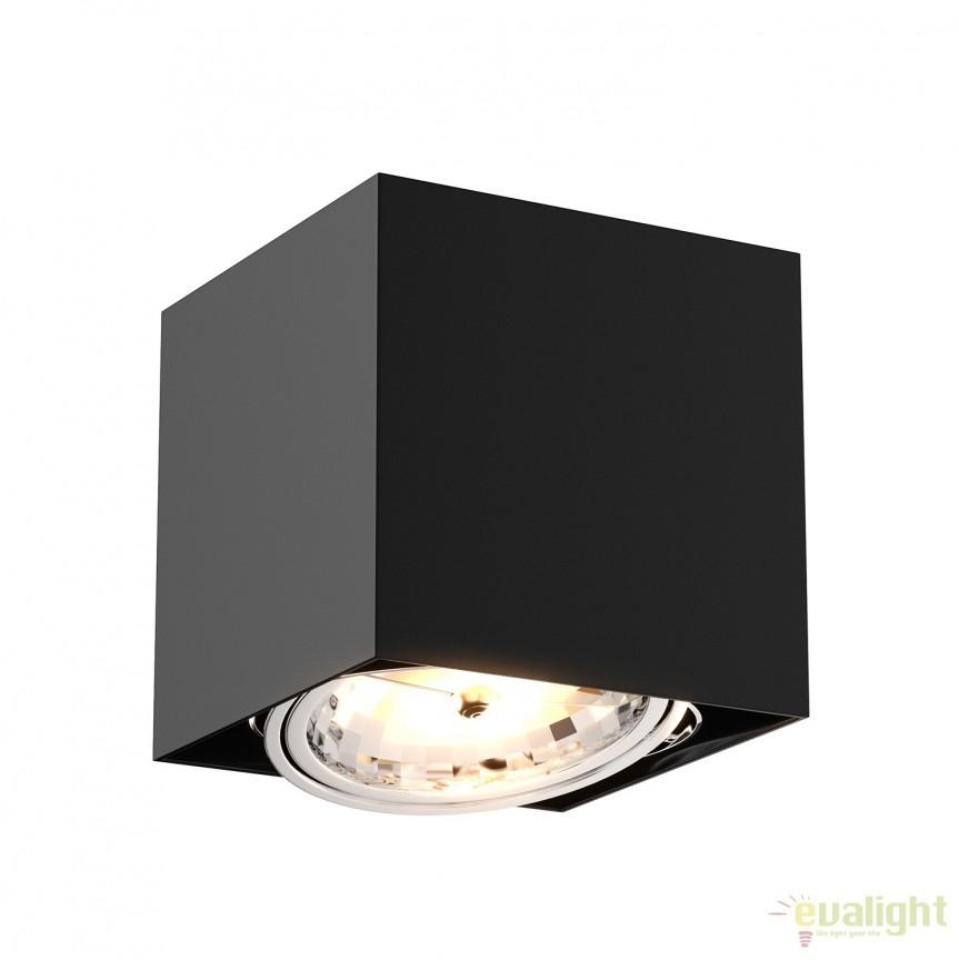 Spot aplicat, directionabil Box SL1 negru 90432 ZL, Spoturi aplicate - tavan / perete, Corpuri de iluminat, lustre, aplice, veioze, lampadare, plafoniere. Mobilier si decoratiuni, oglinzi, scaune, fotolii. Oferte speciale iluminat interior si exterior. Livram in toata tara.  a