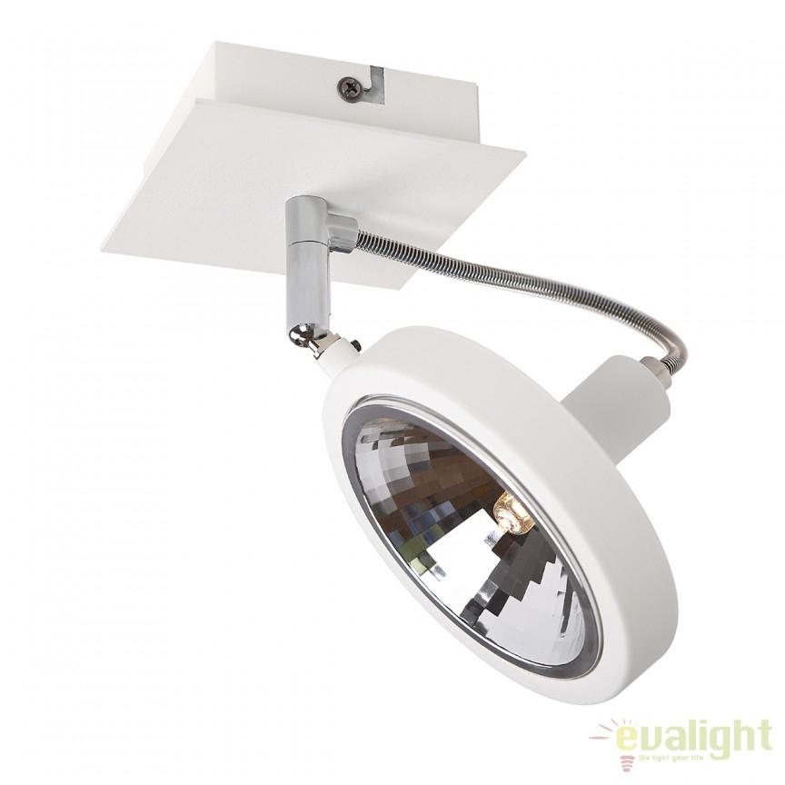 Spot aplicat directionabil design modern Reflex alb C0139 MX, Spoturi aplicate - tavan / perete, Corpuri de iluminat, lustre, aplice, veioze, lampadare, plafoniere. Mobilier si decoratiuni, oglinzi, scaune, fotolii. Oferte speciale iluminat interior si exterior. Livram in toata tara.  a