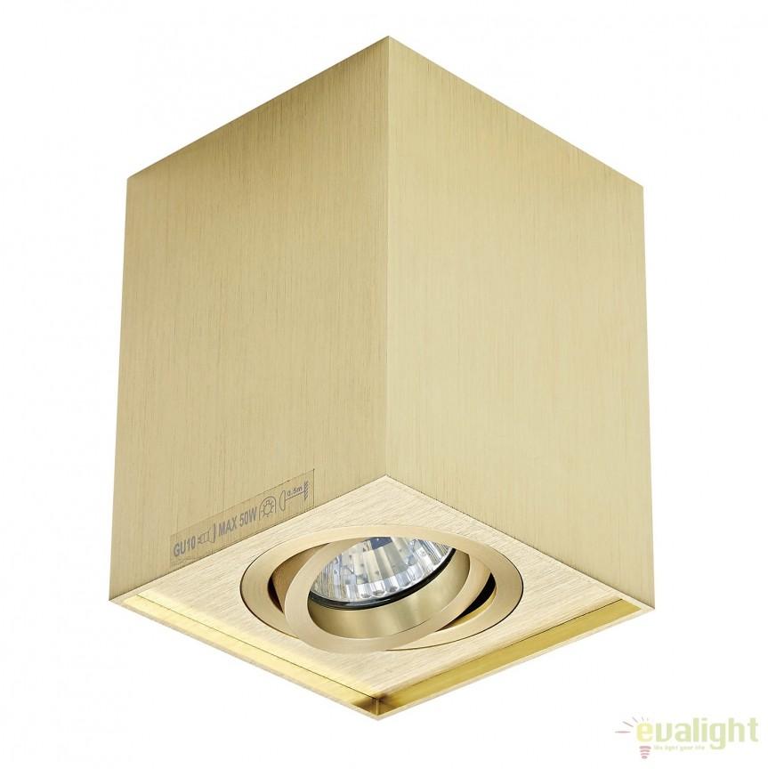 Spot aplicat QUADRO SL 1, auriu 89200-GD ZL, Spoturi aplicate - tavan / perete, Corpuri de iluminat, lustre, aplice, veioze, lampadare, plafoniere. Mobilier si decoratiuni, oglinzi, scaune, fotolii. Oferte speciale iluminat interior si exterior. Livram in toata tara.  a
