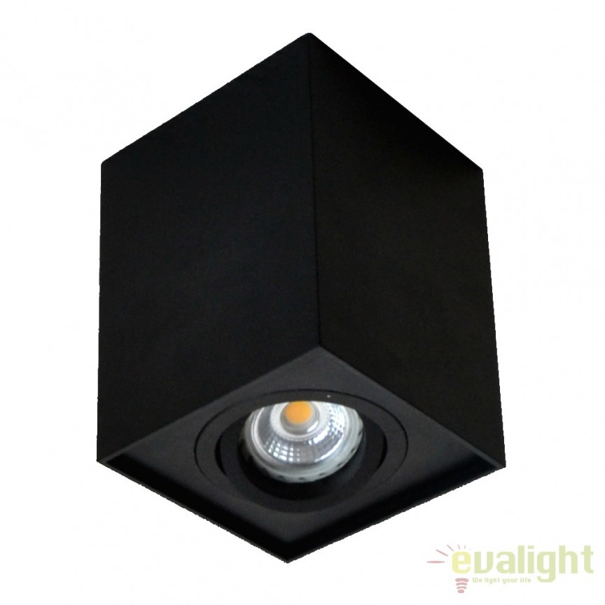 Spot aplicat QUADRO, negru 89200-BK ZL, Spoturi aplicate - tavan / perete, Corpuri de iluminat, lustre, aplice, veioze, lampadare, plafoniere. Mobilier si decoratiuni, oglinzi, scaune, fotolii. Oferte speciale iluminat interior si exterior. Livram in toata tara.  a