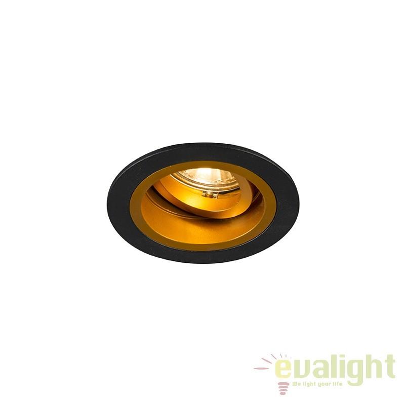 Spot incastrabil, directionabil CHUCK DL ROUND, auriu/ negru 92702 ZL,  a