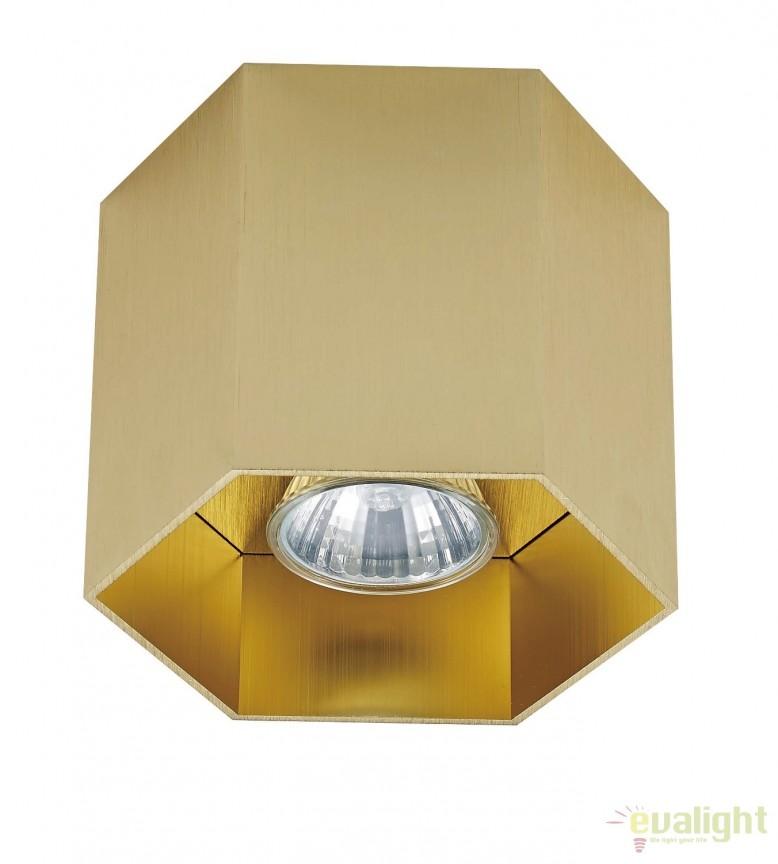 Spot aplicat POLYGON CL1, auriu 20035-GD ZL, Spoturi aplicate - tavan / perete, Corpuri de iluminat, lustre, aplice, veioze, lampadare, plafoniere. Mobilier si decoratiuni, oglinzi, scaune, fotolii. Oferte speciale iluminat interior si exterior. Livram in toata tara.  a