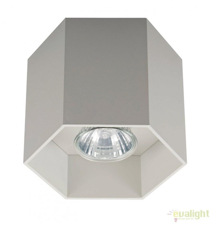 Spot aplicat POLYGON CL1, alb 20035-WH ZL, Spoturi aplicate - tavan / perete, Corpuri de iluminat, lustre, aplice, veioze, lampadare, plafoniere. Mobilier si decoratiuni, oglinzi, scaune, fotolii. Oferte speciale iluminat interior si exterior. Livram in toata tara.  a