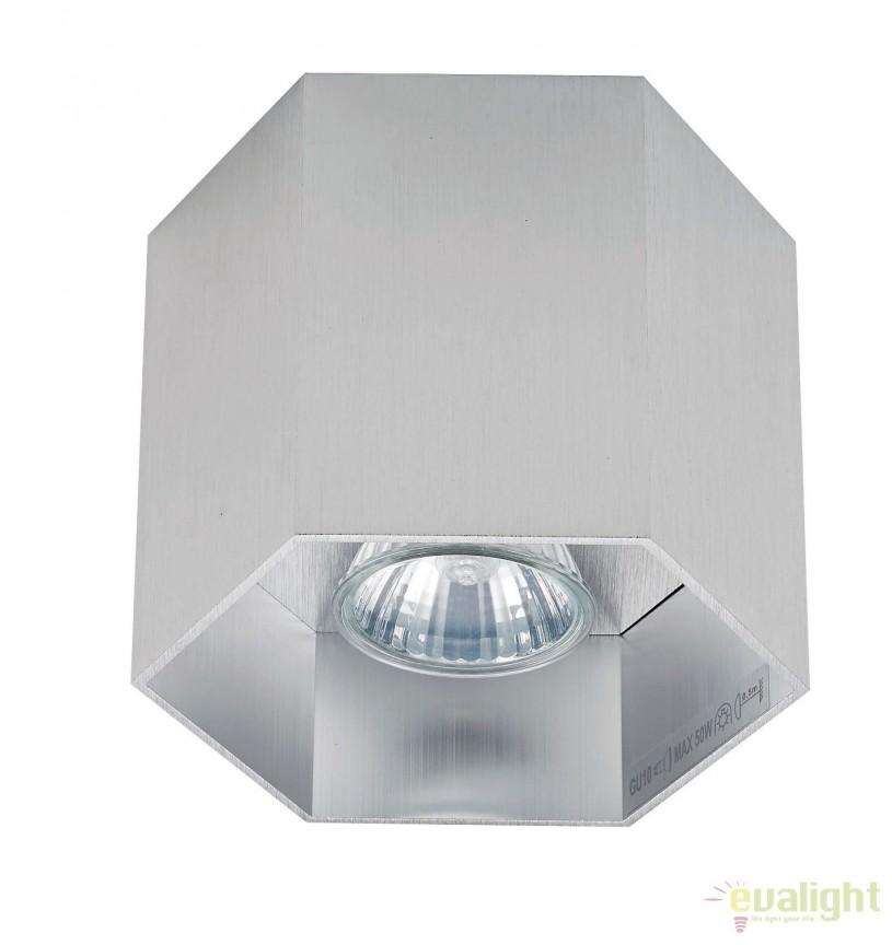 Spot aplicat POLYGON CL1, argintiu 20035-AL ZL, Spoturi aplicate - tavan / perete, Corpuri de iluminat, lustre, aplice, veioze, lampadare, plafoniere. Mobilier si decoratiuni, oglinzi, scaune, fotolii. Oferte speciale iluminat interior si exterior. Livram in toata tara.  a