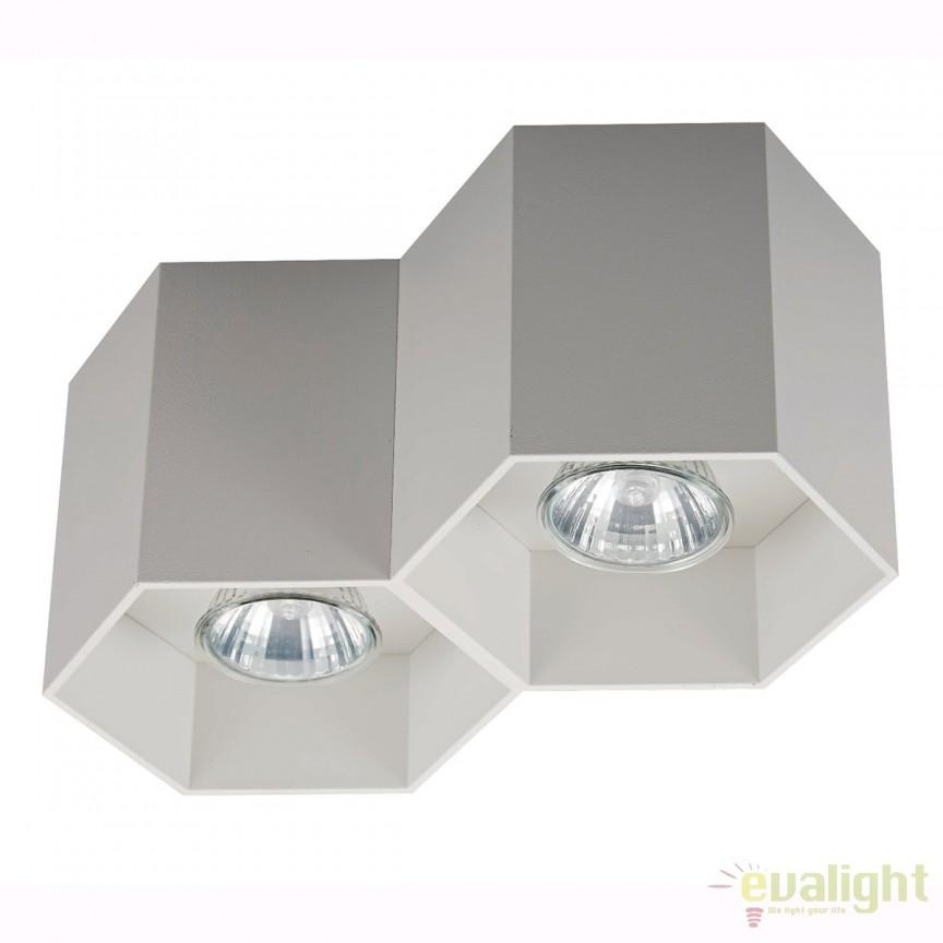 Spot aplicat POLYGON CL 2, alb 20036-WH ZL, Spoturi aplicate - tavan / perete, Corpuri de iluminat, lustre, aplice, veioze, lampadare, plafoniere. Mobilier si decoratiuni, oglinzi, scaune, fotolii. Oferte speciale iluminat interior si exterior. Livram in toata tara.  a