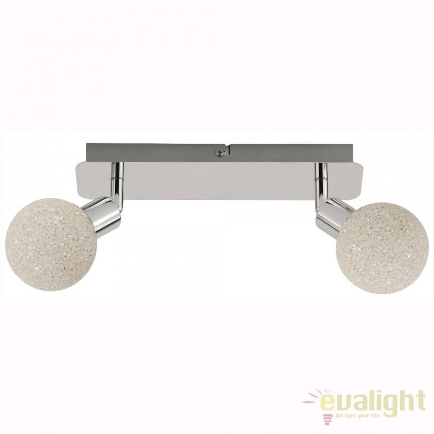 Aplica perete sau tavan LED ISLA CK99898-2 ZL, Spoturi - iluminat - cu 2 spoturi, Corpuri de iluminat, lustre, aplice, veioze, lampadare, plafoniere. Mobilier si decoratiuni, oglinzi, scaune, fotolii. Oferte speciale iluminat interior si exterior. Livram in toata tara.  a