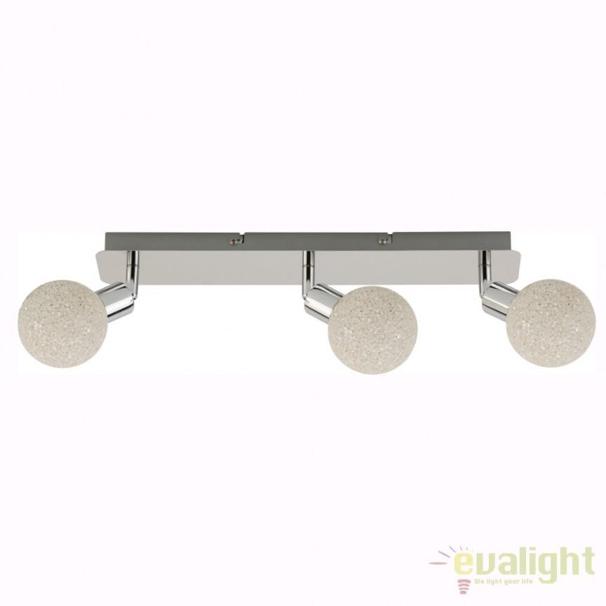 Aplica perete sau tavan LED ISLA CK99898-3 ZL, Spoturi - iluminat - cu 3 spoturi, Corpuri de iluminat, lustre, aplice, veioze, lampadare, plafoniere. Mobilier si decoratiuni, oglinzi, scaune, fotolii. Oferte speciale iluminat interior si exterior. Livram in toata tara.  a