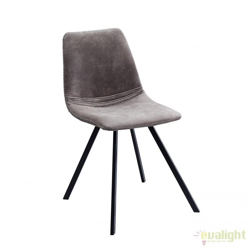 Set de 4 scaune industrial retro ideale bucatarii, birouri sau sali de conferinta, Amsterdam taupe A-38366 VC, Seturi scaune dining, scaune HoReCa, Corpuri de iluminat, lustre, aplice, veioze, lampadare, plafoniere. Mobilier si decoratiuni, oglinzi, scaune, fotolii. Oferte speciale iluminat interior si exterior. Livram in toata tara.  a