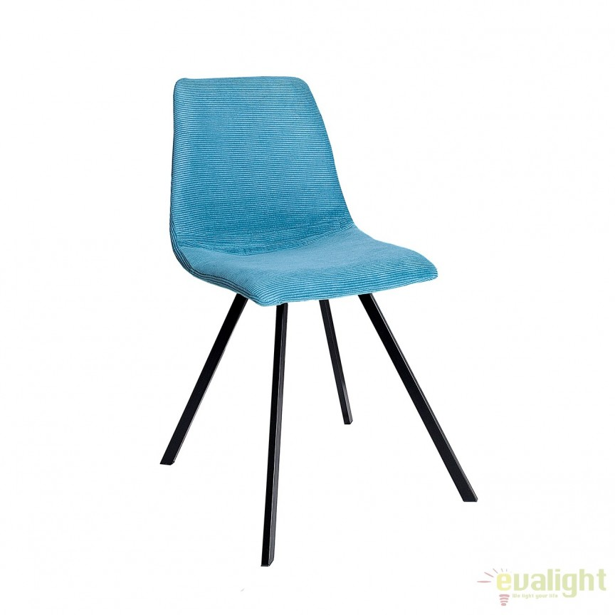 Set de 4 scaune industrial retro ideale bucatarii, birouri sau sali de conferinta, Amsterdam albastru turcoaz A-38367 VC, Seturi scaune dining, scaune HoReCa, Corpuri de iluminat, lustre, aplice, veioze, lampadare, plafoniere. Mobilier si decoratiuni, oglinzi, scaune, fotolii. Oferte speciale iluminat interior si exterior. Livram in toata tara.  a