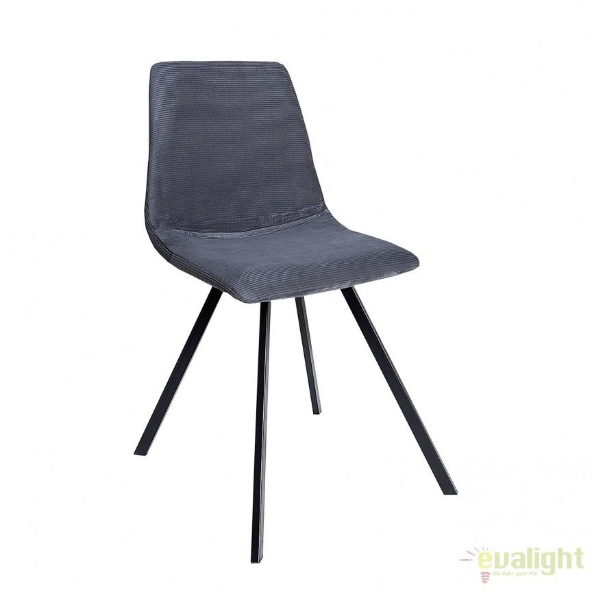 Set de 4 scaune industrial retro ideale bucatarii, birouri sau sali de conferinta, Amsterdam albastru inchis A-38370 VC, Seturi scaune dining, scaune HoReCa, Corpuri de iluminat, lustre, aplice, veioze, lampadare, plafoniere. Mobilier si decoratiuni, oglinzi, scaune, fotolii. Oferte speciale iluminat interior si exterior. Livram in toata tara.  a