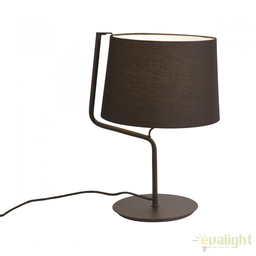 Veioza / Lampa masa design modern CHICAGO neagra T0029 MX, Veioze, Lampi de masa, Corpuri de iluminat, lustre, aplice, veioze, lampadare, plafoniere. Mobilier si decoratiuni, oglinzi, scaune, fotolii. Oferte speciale iluminat interior si exterior. Livram in toata tara.  a