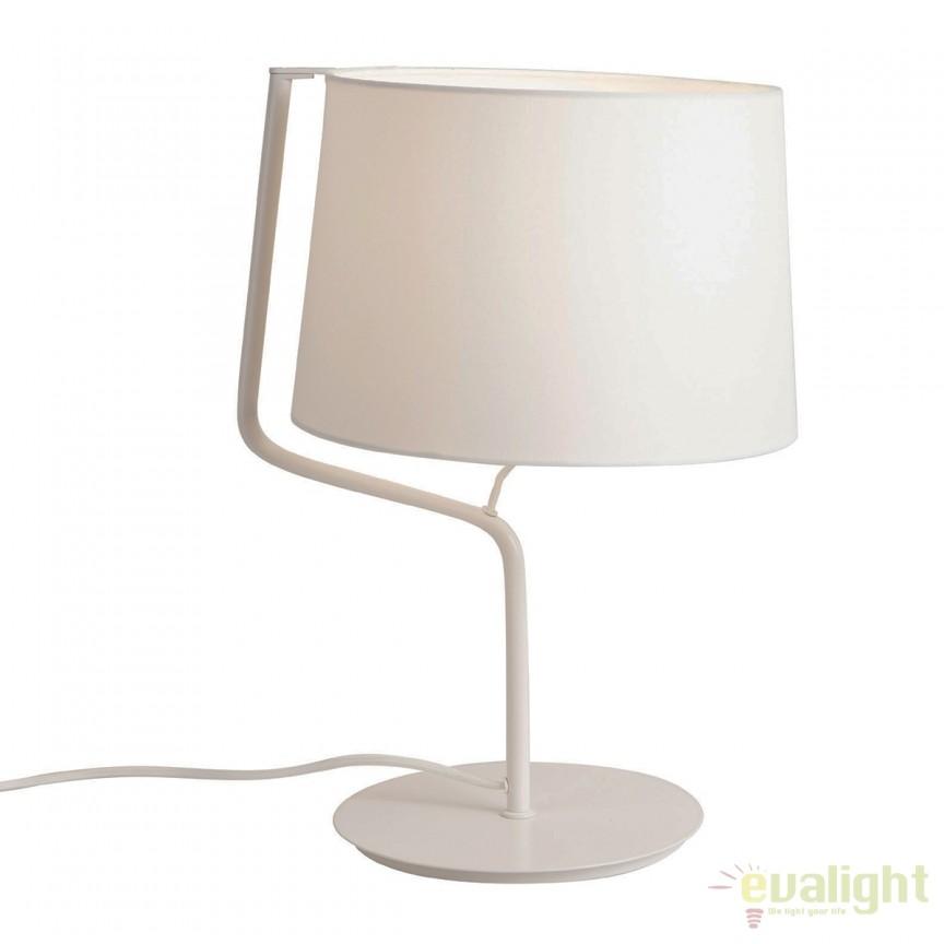 Veioza / Lampa masa design modern CHICAGO alba T0028 MX, Veioze, Lampi de masa, Corpuri de iluminat, lustre, aplice, veioze, lampadare, plafoniere. Mobilier si decoratiuni, oglinzi, scaune, fotolii. Oferte speciale iluminat interior si exterior. Livram in toata tara.  a