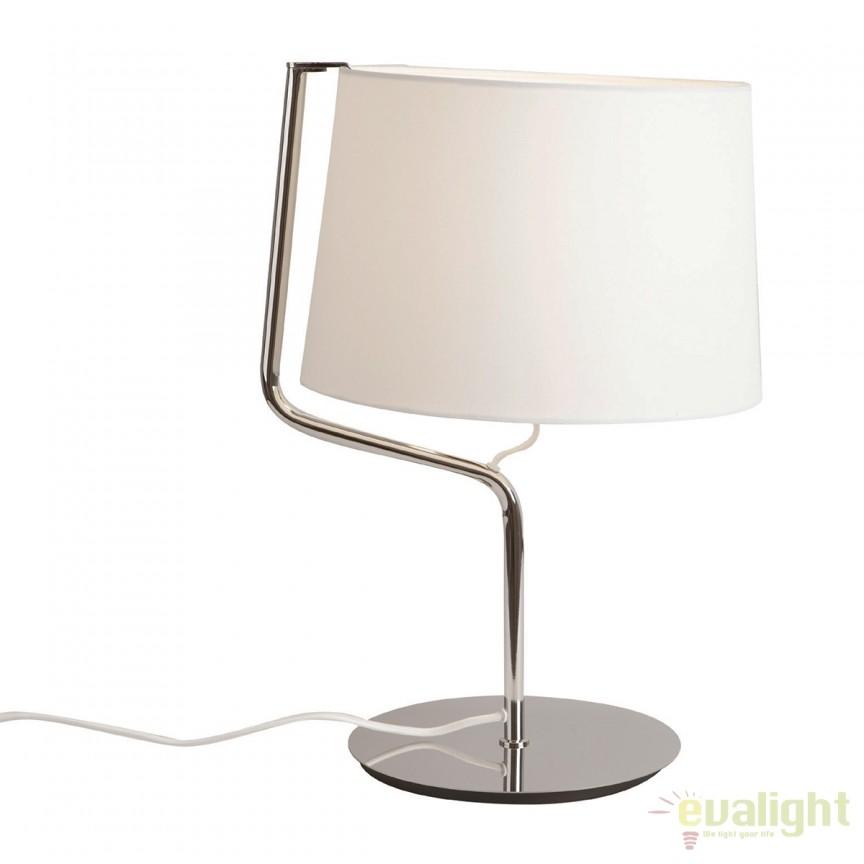 Veioza / Lampa masa design modern CHICAGO crom T0030 MX, Veioze, Lampi de masa, Corpuri de iluminat, lustre, aplice, veioze, lampadare, plafoniere. Mobilier si decoratiuni, oglinzi, scaune, fotolii. Oferte speciale iluminat interior si exterior. Livram in toata tara.  a