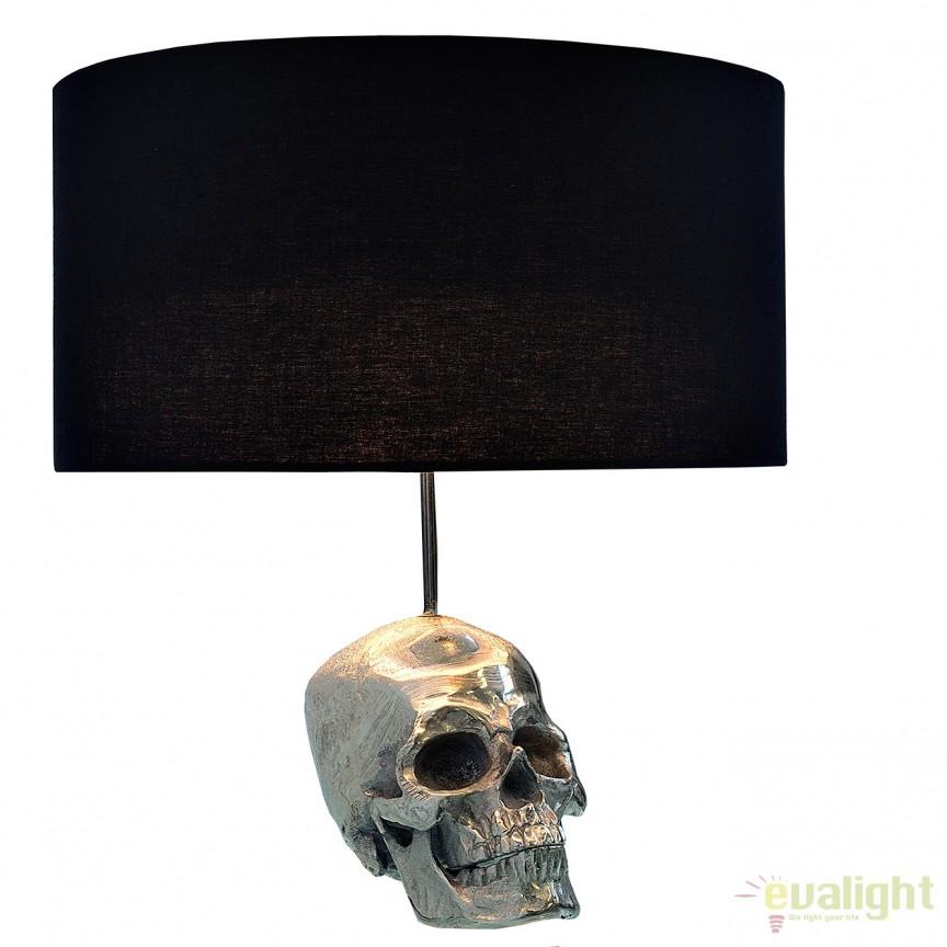 Veioza decorativa, eleganta Skull 44cm A-38320 VC, Veioze, Lampi de masa, Corpuri de iluminat, lustre, aplice, veioze, lampadare, plafoniere. Mobilier si decoratiuni, oglinzi, scaune, fotolii. Oferte speciale iluminat interior si exterior. Livram in toata tara.  a