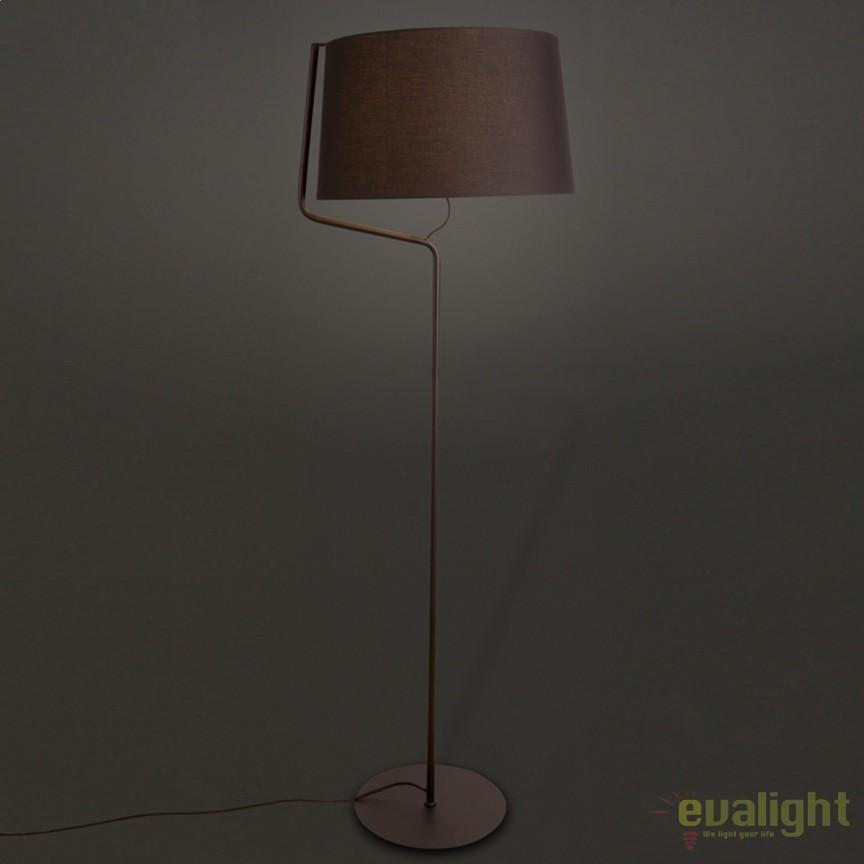 Lampadar / Lampa podea design modern CHICAGO neagra F0036 MX, Magazin, Corpuri de iluminat, lustre, aplice, veioze, lampadare, plafoniere. Mobilier si decoratiuni, oglinzi, scaune, fotolii. Oferte speciale iluminat interior si exterior. Livram in toata tara.  a