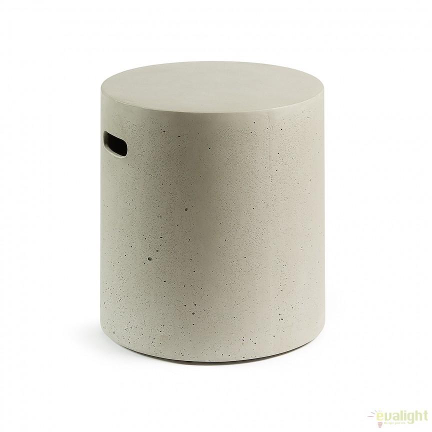 Taburete din ciment pentru interior si exterior, RHETTE CC0511RF03 JG, Mobilier terasa si gradina, Corpuri de iluminat, lustre, aplice, veioze, lampadare, plafoniere. Mobilier si decoratiuni, oglinzi, scaune, fotolii. Oferte speciale iluminat interior si exterior. Livram in toata tara.  a