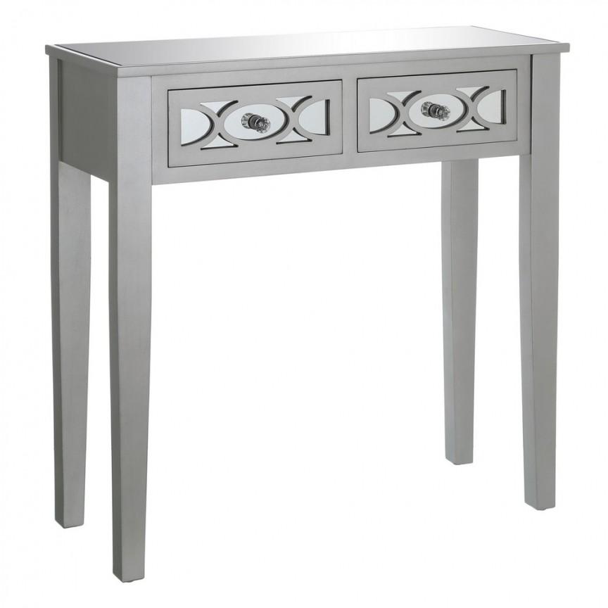 Consola eleganta cu 2 sertare Glam I, argintiu SX-103175, PROMOTII,  a
