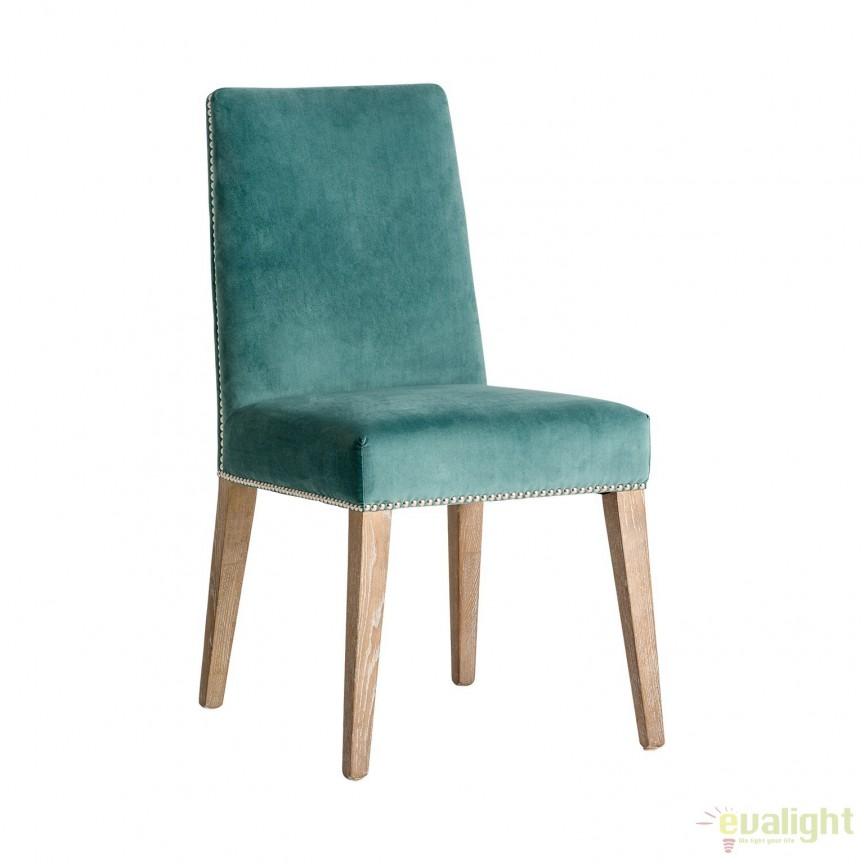 Set de 2 scaune elegante, tapitate Chirens 24438 VH, Seturi scaune dining, scaune HoReCa, Corpuri de iluminat, lustre, aplice, veioze, lampadare, plafoniere. Mobilier si decoratiuni, oglinzi, scaune, fotolii. Oferte speciale iluminat interior si exterior. Livram in toata tara.  a