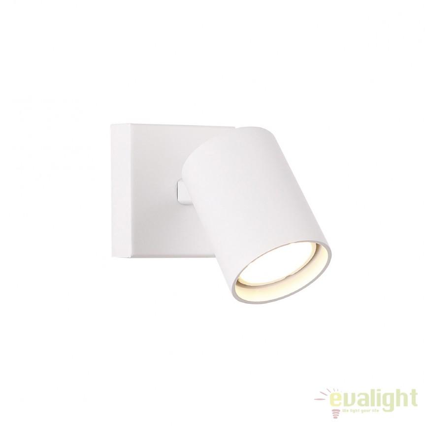 Aplica perete cu spot directonabil TOP I alb W0218 MX, Spoturi - iluminat - cu 2 spoturi, Corpuri de iluminat, lustre, aplice, veioze, lampadare, plafoniere. Mobilier si decoratiuni, oglinzi, scaune, fotolii. Oferte speciale iluminat interior si exterior. Livram in toata tara.  a