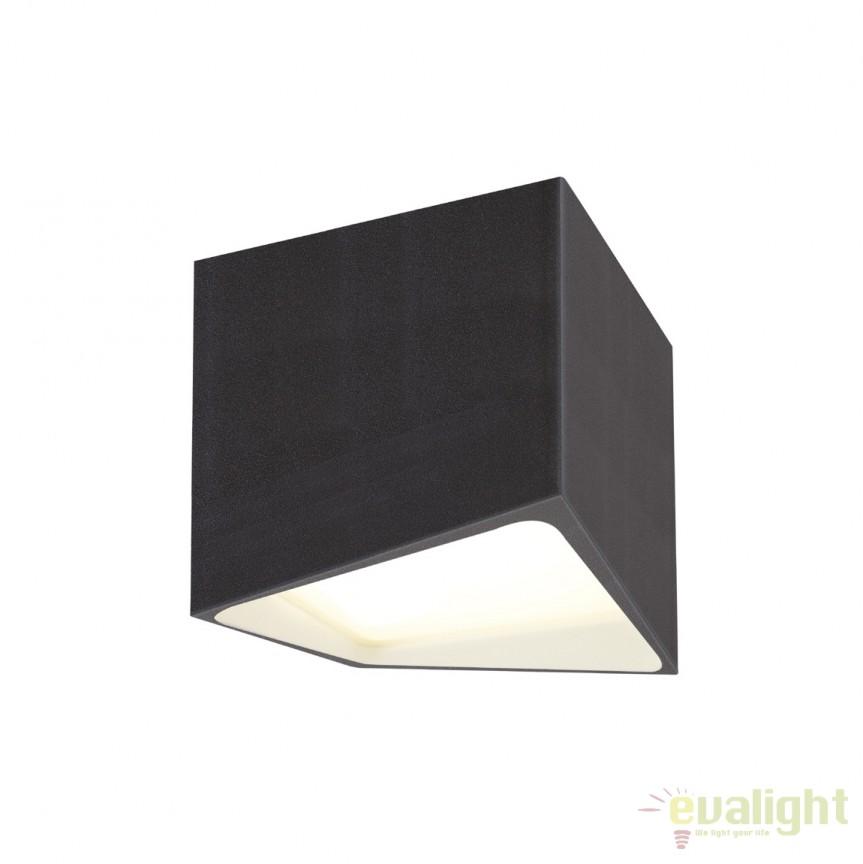 Plafoniera LED moderna IP44 ETNA neagra C0144 MX, Plafoniere cu protectie pentru baie, Corpuri de iluminat, lustre, aplice, veioze, lampadare, plafoniere. Mobilier si decoratiuni, oglinzi, scaune, fotolii. Oferte speciale iluminat interior si exterior. Livram in toata tara.  a